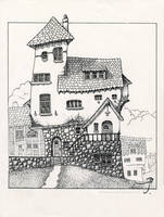 Beagle House [uncolored] by SirInkman