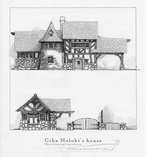 Gihn Mofeht's house [pencil]