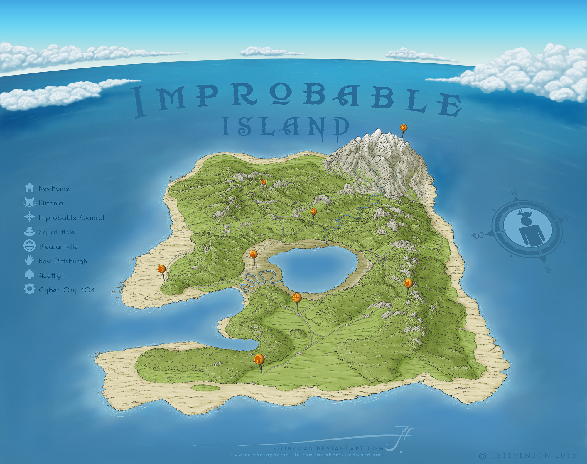 Improbable Island by SirInkman
