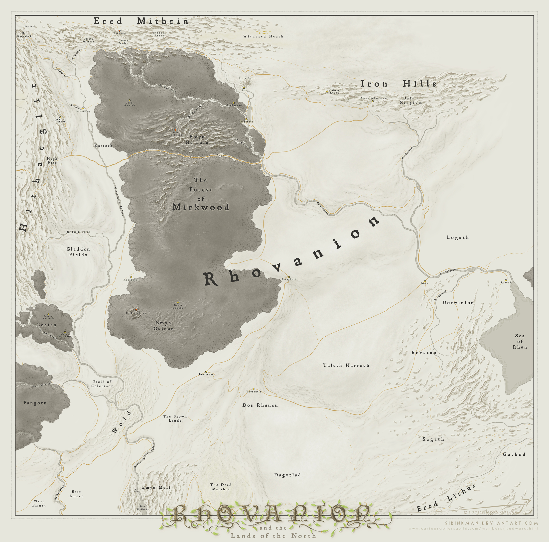 Rhovanion [Middle Earth] by SirInkman