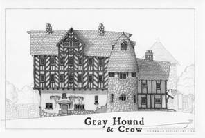 GrayHound and Crow by SirInkman