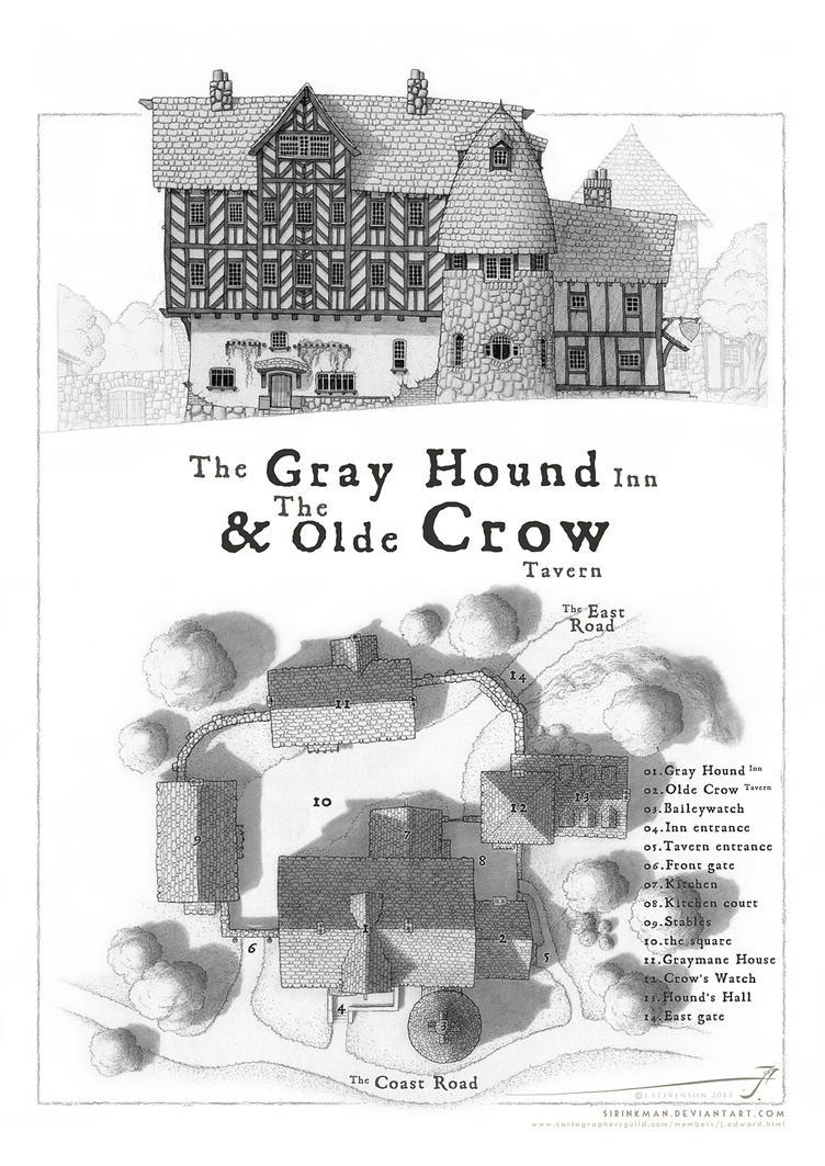GrayHound and Crow map by SirInkman