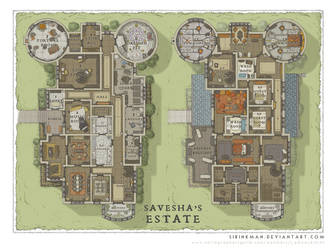 Wizards Academy - Savesha's Estate by SirInkman