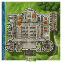 Castle of The Warrior Priests by sirinkman by SirInkman