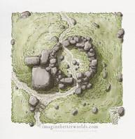 A random encounter - Ruined Tower by SirInkman