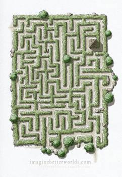 A random encounter - Hedgerow Maze
