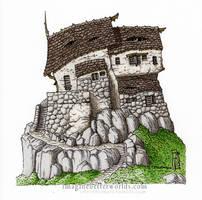 Ramshackle Monster House by SirInkman
