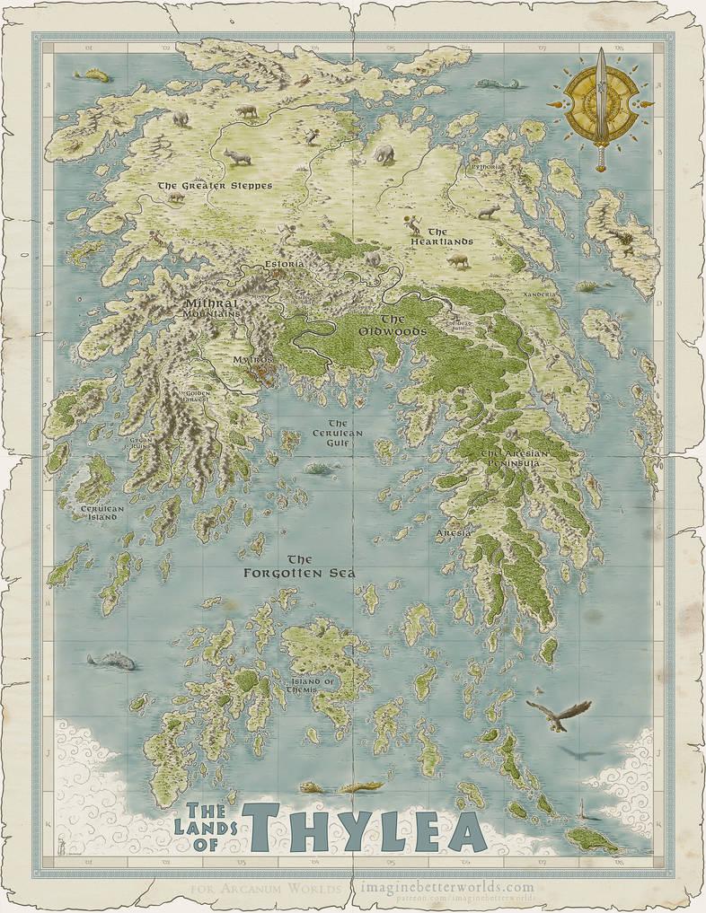 Thylea [Odyssey of the Dragonlords] by SirInkman