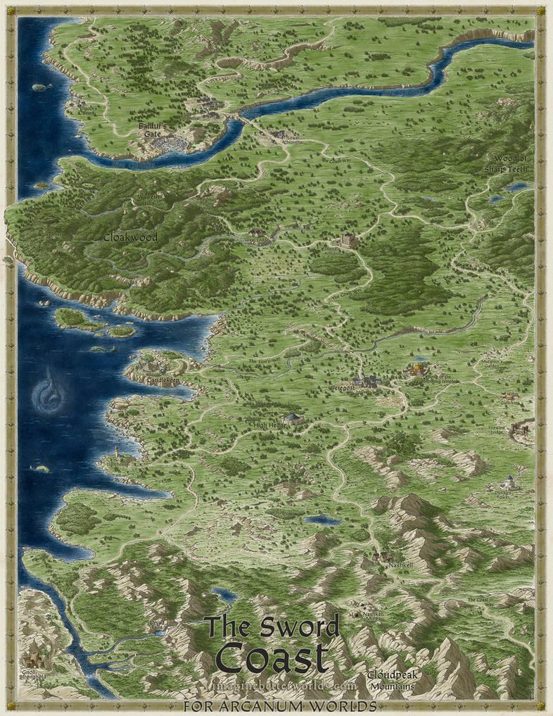 Baldur's Gate - Sword Coast map