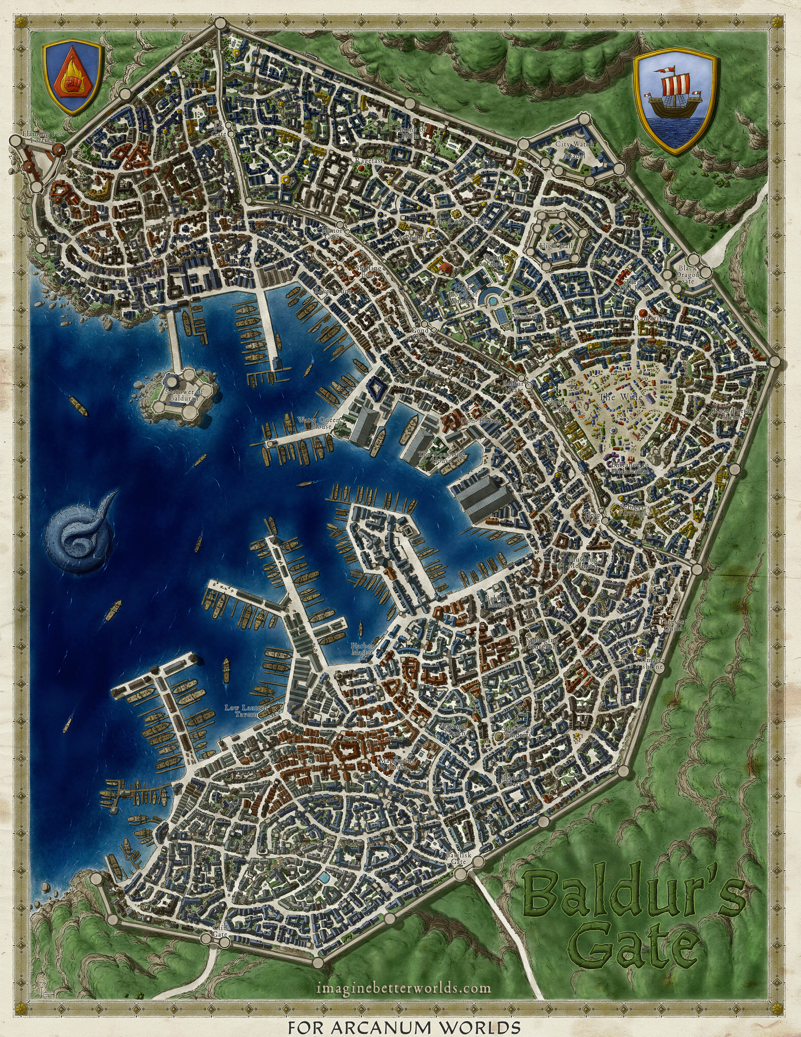 Baldur S Gate City Map By Sirinkman On Deviantart