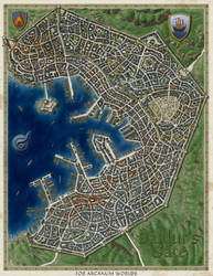 Baldur's Gate - city map [Unlabeled] by SirInkman