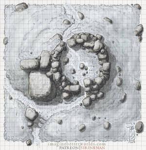 A random encounter - Ruined Tower [winter]
