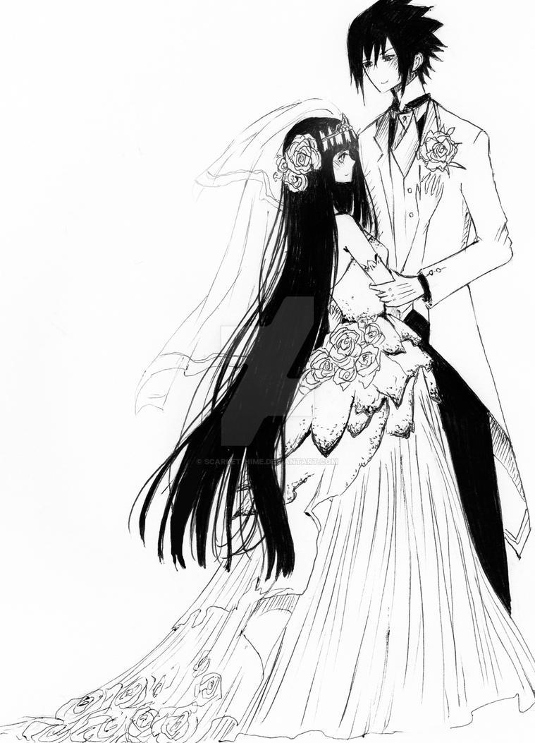 sasuhinawedding by scarlethime on deviantart