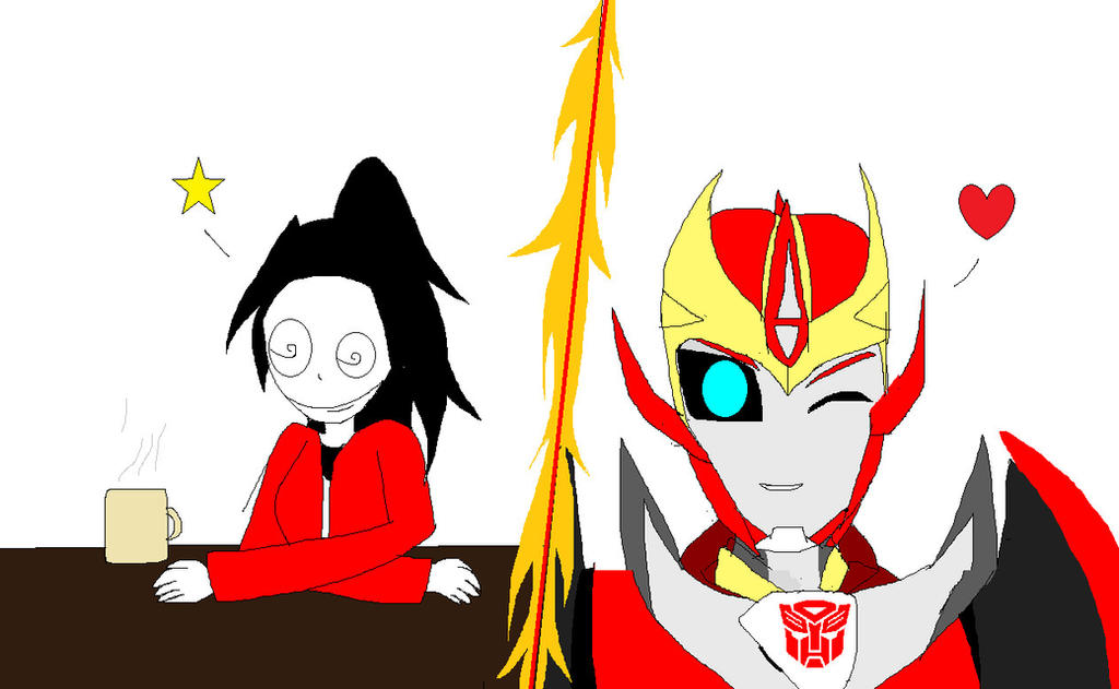 Charlotte and Rodimus:   Passion Pursuers by SonicSpyroNiGHTS-Fan