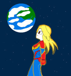 Captain Marvel by SonicSpyroNiGHTS-Fan