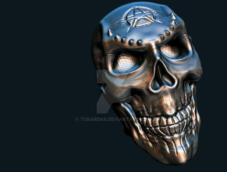 skull by tusardas