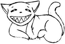 evil kitty? by kittykatpride