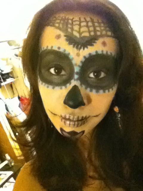 Sugar Skull makeup by o0oO-araceli-Oo0o