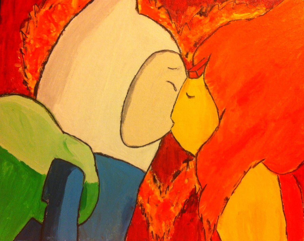 Finn and Flame Princess Kiss (Burning Low) by Emobella101 ...