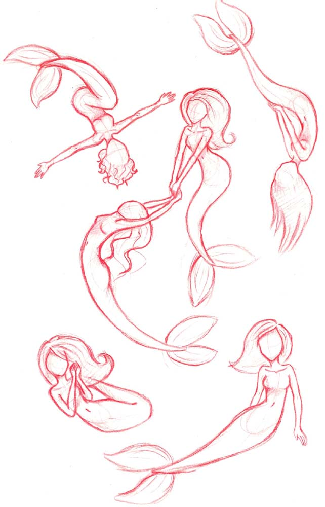 This is an image of Crafty Mermaid Drawing Base