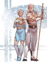 Healer and warrior by Luzerrante