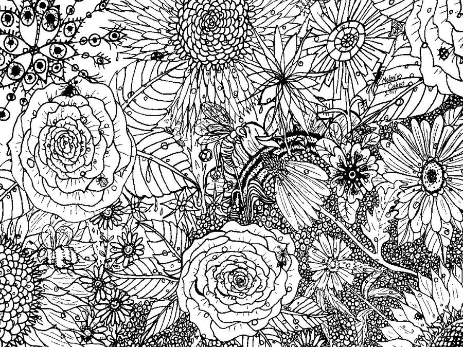 Floral Coloring Page by Melanie76 on DeviantArt