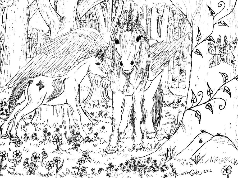 Winged Unicorn Coloring Page by Melanie76 on DeviantArt