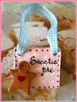 pink shabby chic clay plaque