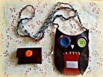 handsewn owl coin purse - view 2