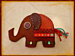 Recycled leather elephant purse