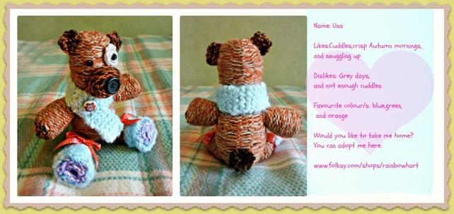 Knit teddy bear by moonwolf17