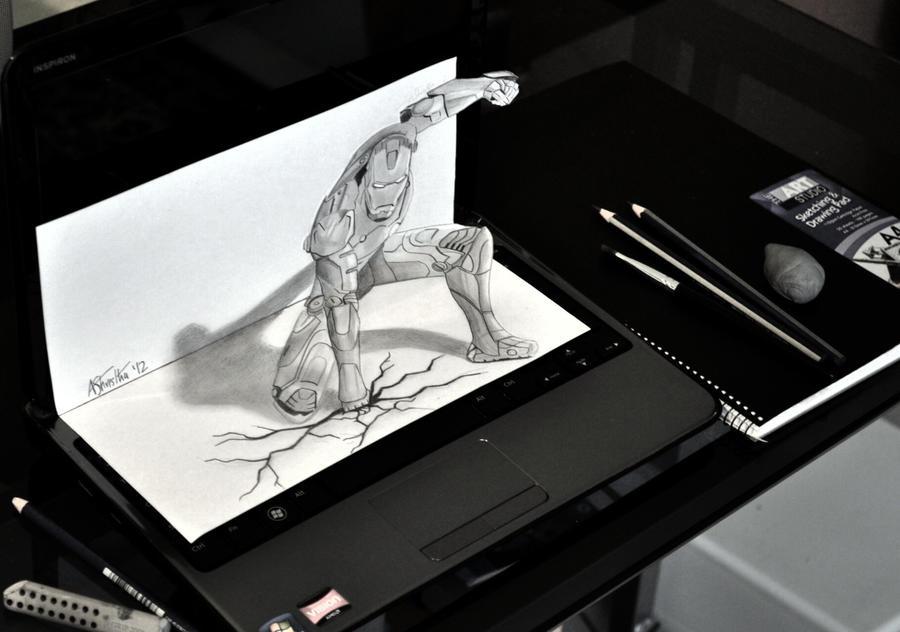 Iron Man 3D by Aj3sh on DeviantArt
