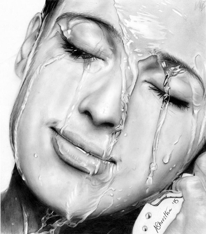 Water on face study by Aj3sh