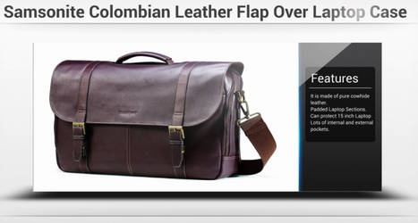 Samsonite Colombian Leather Flap Over Laptop Case by laptopbags143