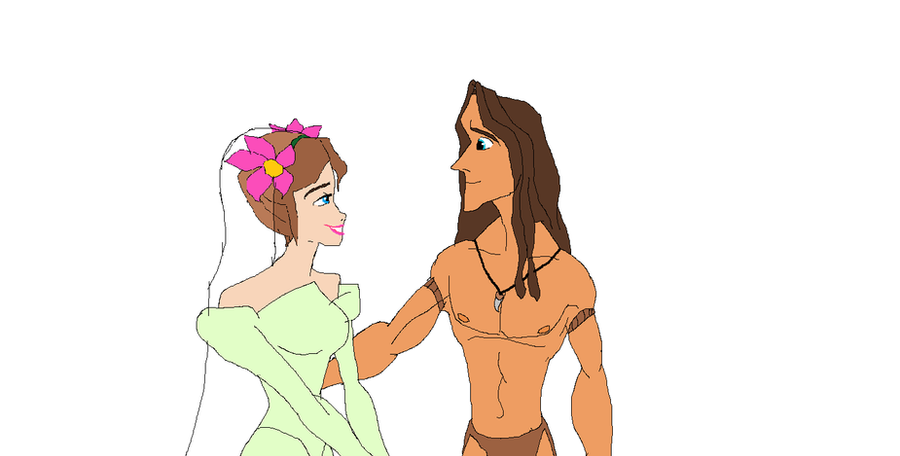 Jane and Tarzan getting married by EllentheApeGirl