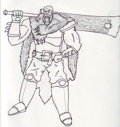 how to draw barbarian king