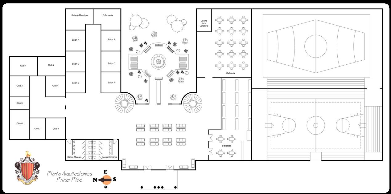 Planta arquitectonica primer piso by theakon staff on for Planta arquitectonica con medidas