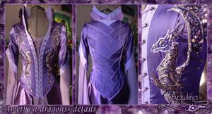 Costume 'Amethyst dragons' 2014. Details