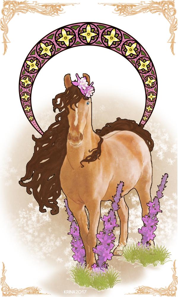 Art Nouveau Horse