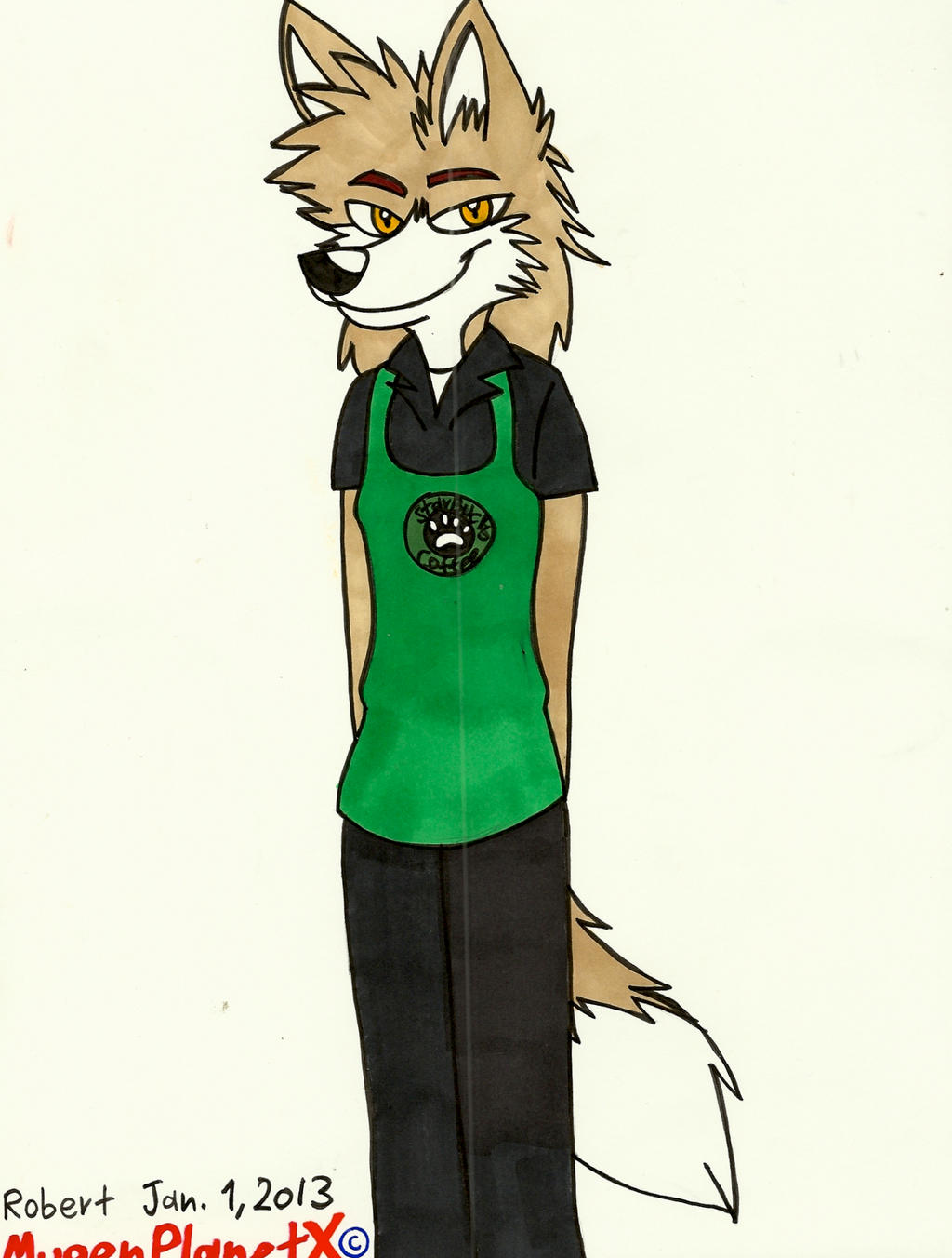 Apollo working at Starbucks by MugenPlanetX