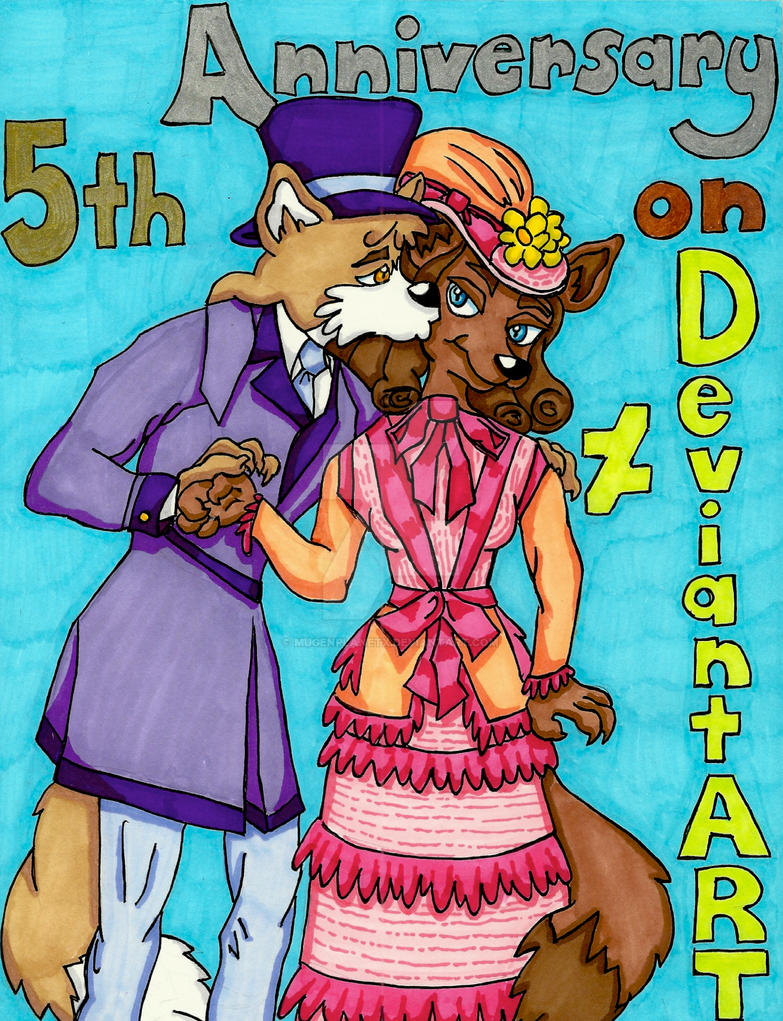 5th Anniversary on DeviantART (Second Version) by MugenPlanetX