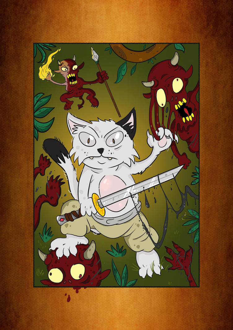 Gendgi the cat VS Evil Imps by Gendgi