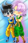 Trunks and Gotennn~ by dbz-senpai