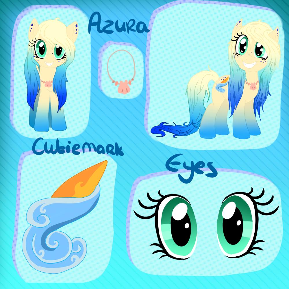 Pony OC: Azura -REF- by BabyPandaPaws