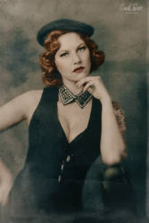 vintage portrait of Eva