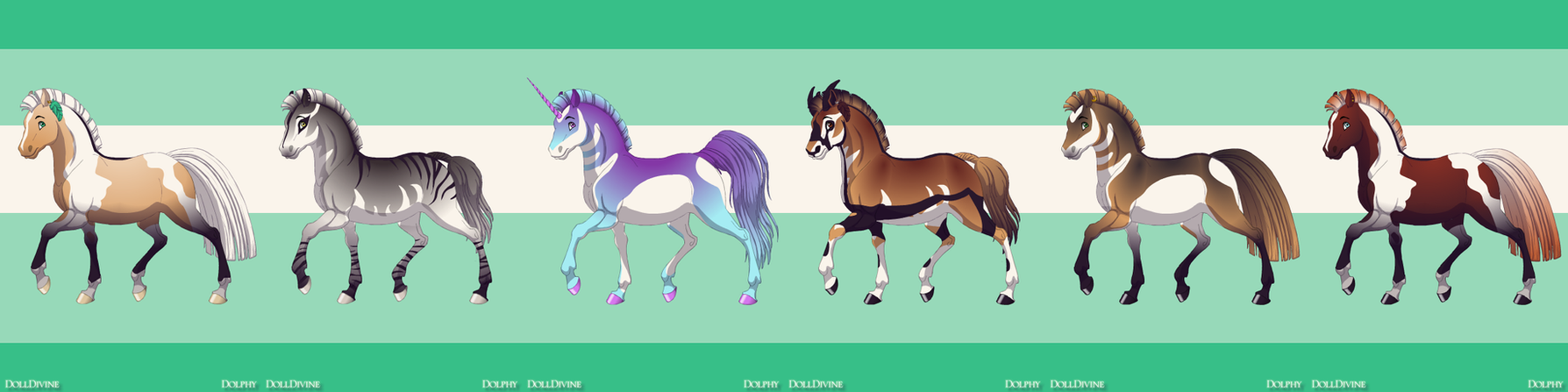 Horse Adopts 11 OPEN by Akssel-Adopts