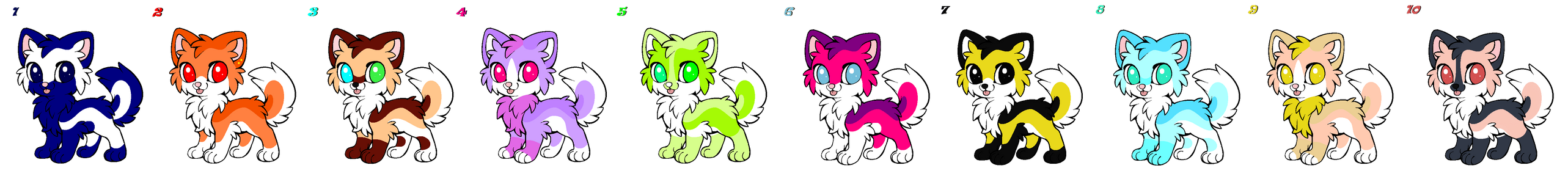 Puppy Point Adopts 4 OPEN by Akssel-Adopts