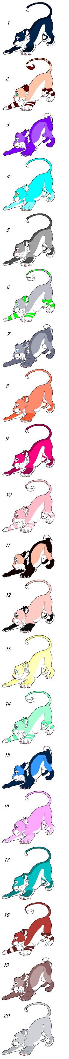 Feline Mix Point Adopts 5 OPEN by Akssel-Adopts