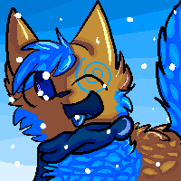 Fallen likes eating snowflakes by campfyre