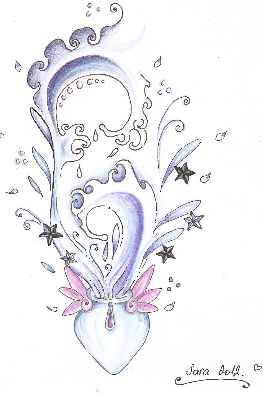 aquarius tattoo design by aquaganymedes on deviantart. Black Bedroom Furniture Sets. Home Design Ideas